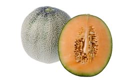 Rock Melons Isolated Stock Photos
