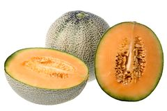 Rock Melons Isolated Royalty Free Stock Images