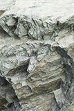 Rock minerals. Rock cuts limestone minerals, geology and stone Stock Images