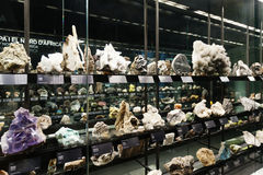 Rock and minerals at  Museu Blau Royalty Free Stock Images