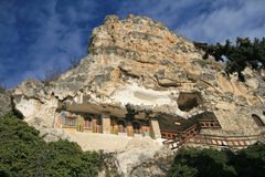 Rock monastery royalty free stock photos