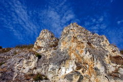 The rock monastery St Dimitrii of Basarbovo royalty free stock image
