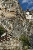 The rock monastery St Dimitrii of Basarbovo Stock Images