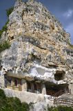 The rock monastery St Dimitrii of Basarbovo Royalty Free Stock Photos