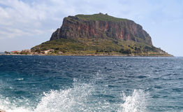 The rock of Monemvasia in Greece Royalty Free Stock Photos