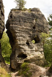 Rock monument. From sandstone in nature Stock Photo