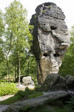 Rock monument. From sandstone in nature Royalty Free Stock Image