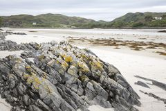 Rock on Morar Bay Beach Royalty Free Stock Images