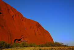 The rock in the morning light. Stock Photos