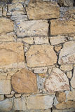 Rock and mortar wall background Royalty Free Stock Images