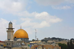 Rock Mosque. Old city Jerusalem Royalty Free Stock Image