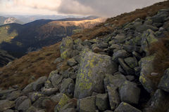 Rock On Mountain Royalty Free Stock Photo