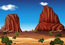 Rock Mountain in the Desert. Illustration stock illustration