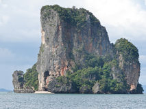 Rock mountain island or nature island for travel in thailand Stock Photos