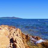 Rock, mountain and sea. Stock Photos