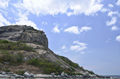 Rock mountain on a sea,Huahin Thailand Stock Images