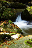 Rock and mountain stream Stock Photos