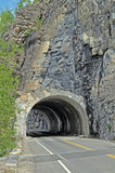 Rock mountain tunnel Royalty Free Stock Photos