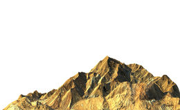 Rock mountain on white background. 3D render Stock Photography