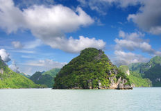 Rock Mountains. At Ha Long Bay Royalty Free Stock Photography