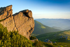 Rock in mountains Stock Photography