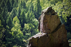 Rock in the mountains Royalty Free Stock Photo