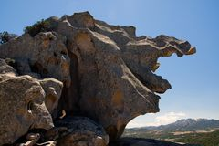 Rock in the mountains of Sardinia, Italy royalty free stock photography
