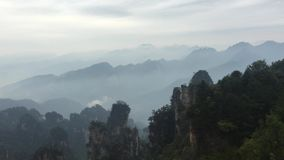 Rock mountains at Zhangjiajie National Park in Hunan, China stock video footage