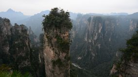 Rock mountains at Zhangjiajie National Park in Hunan, China stock video
