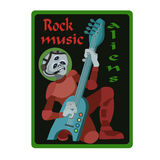 Rock music aliens Royalty Free Stock Images
