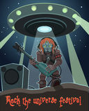 Rock music aliens Royalty Free Stock Photo