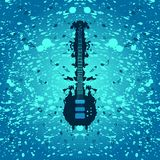 Rock music background - bass guitar royalty free stock images
