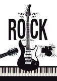 Rock music background stock illustration