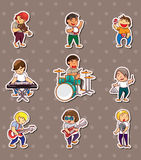 Rock music band stickers Stock Photo