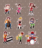 Rock music band stickers Stock Images