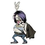 Rock Music Fan Character. Cartoon Vector Royalty Free Stock Photography