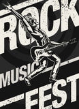 Rock Music Fest Poster Stock Images