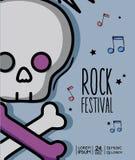 Rock music festival event concert. Vector illustration Stock Photo