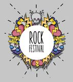 Rock music festival event concert. Vector illustration Royalty Free Stock Image
