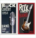 Rock music festival, poster Stock Photos