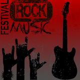 Rock music festival template. Rock music festival grunge  template Stock Photo