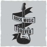 Rock Music Forever Poster Stock Photography