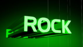 Rock Music Genre Header. In 3D animating in and rotating with a wireframe rotating background. Last 10 seconds loop. HD 1080i stock video