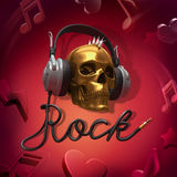 Rock music headphones Royalty Free Stock Images