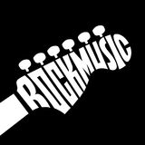 Rock Music lettering Stock Photos