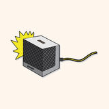 Rock music Loudspeaker theme elements vector,eps Stock Image
