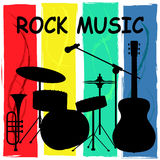 Rock Music Means Sound Track And Acoustic Stock Images