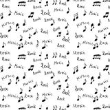 Rock, music and musical notes Stock Photo