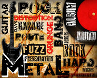 Rock Music poster. On grunge Royalty Free Stock Photo