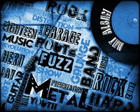 Rock Music poster. On grunge Stock Images